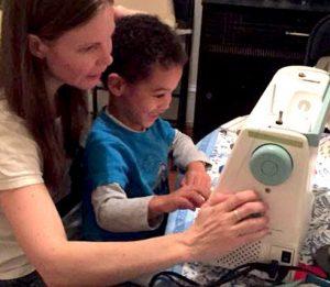 teaching my son Sasha, age 4